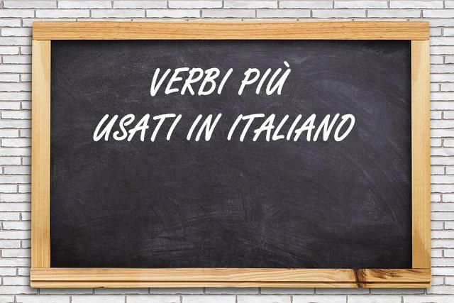 verbi più usati in italiano