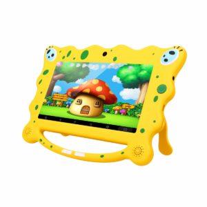 Ainol 7C08 Tablet per Bambini da 7 pollici, Android 7.1 RK3126C Quad Core 1GB+8GB Tablet Educativo, con Custodia in Silicone Stander, WIFI Doppia Fotocamera, Giallo