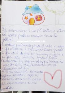 Lettera scritta da un bambino che parla del coronavirus