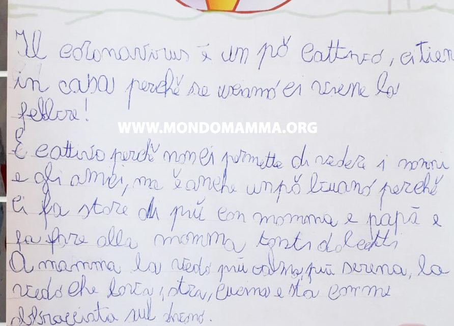Lettera di un bambino al coronavirus